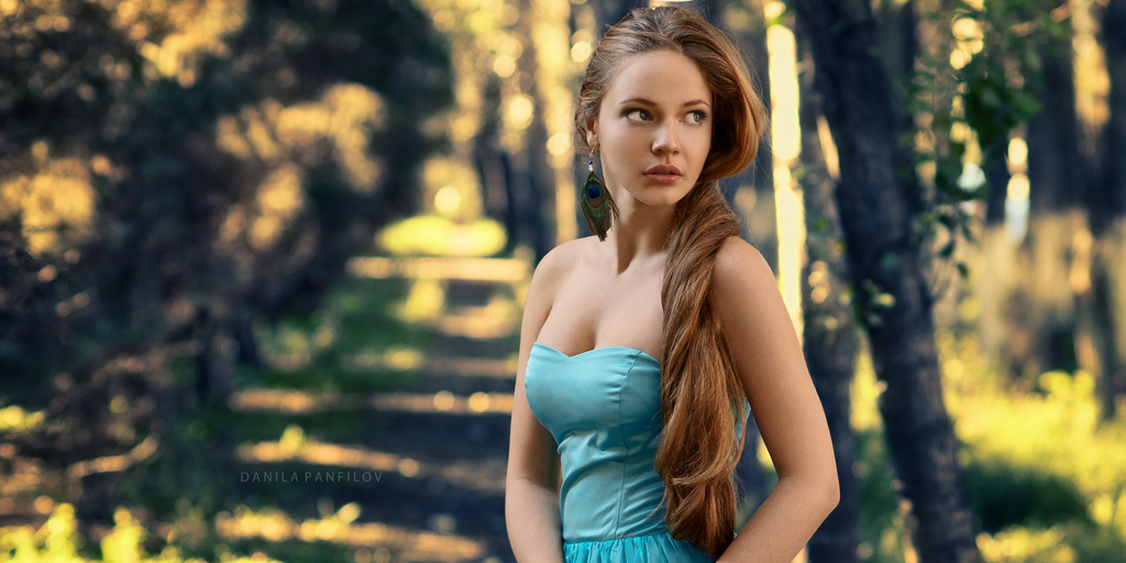 russian model nature