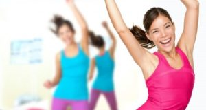 women dancing gym