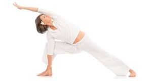 women yoga training