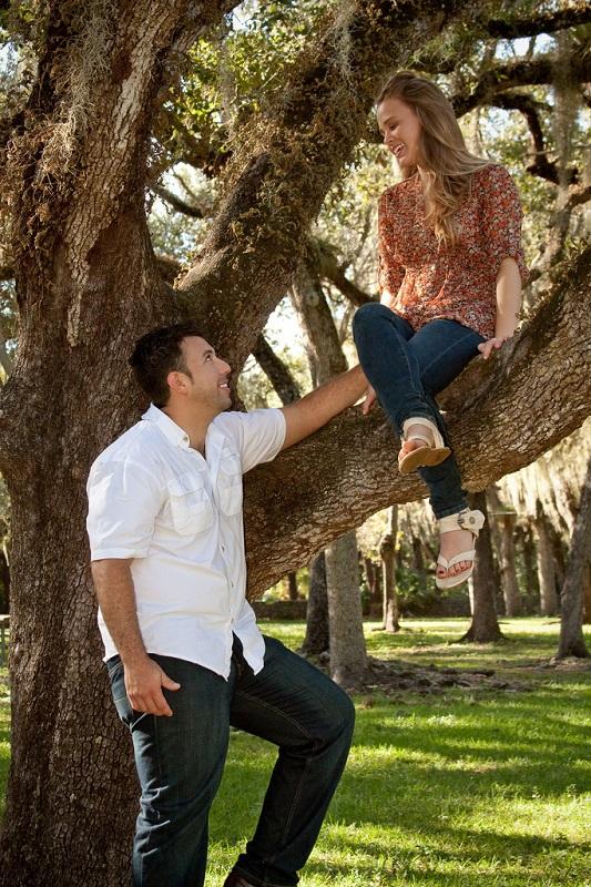 women and men nature tree