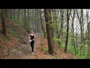 women running park