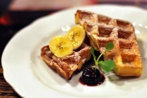 home made belgian waffle
