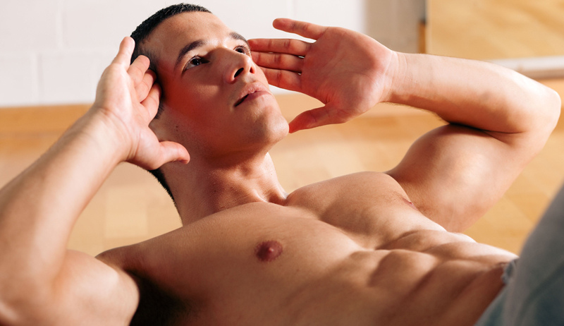 men shaping his male body