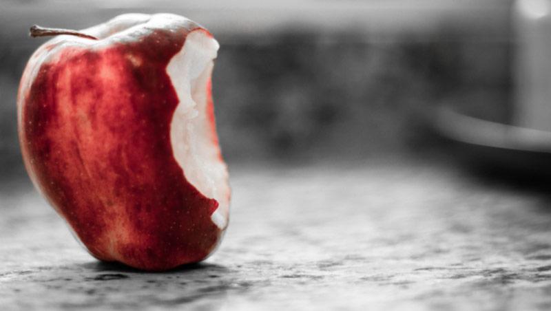 apple bite - heart