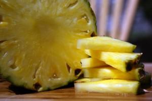 cut and fresh Pineapple