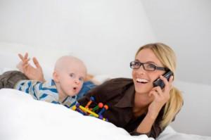 parent speaking on phone