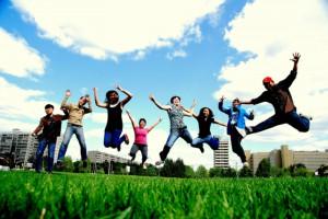 teen energy - jumping