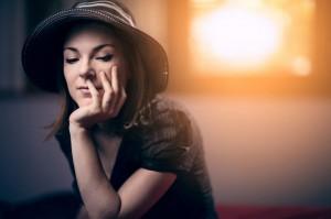 women sitting - makeup