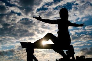 women yoga exercising
