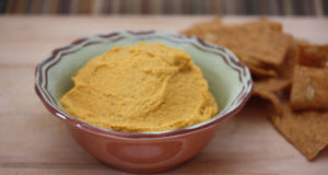 hummus on the table