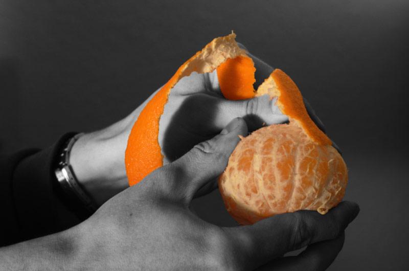 mandarine peel