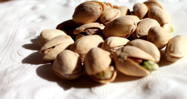 pistachios on table