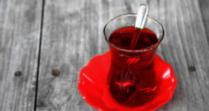 tea on a table