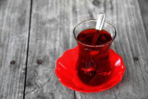 tea on a table
