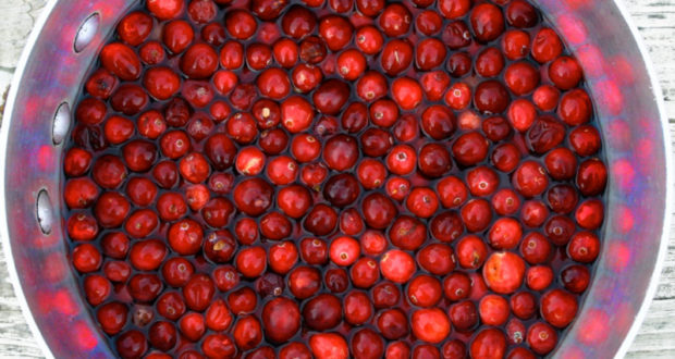 cranberries on the table