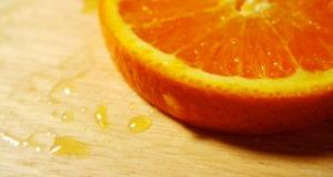 orange sliced face mask