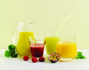 juices on table