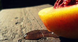 peaches on the table