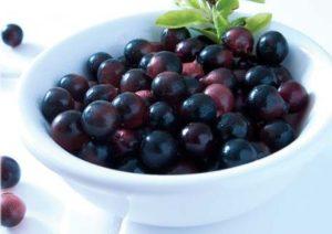 Acai berries on table