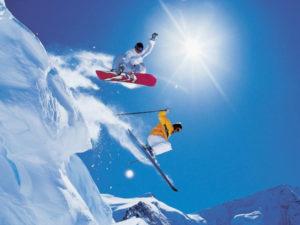 snowboard skiing