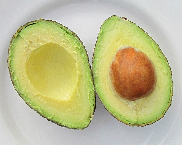 avocado in plate