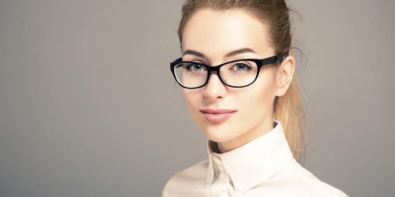 eyes women with glasses eyes