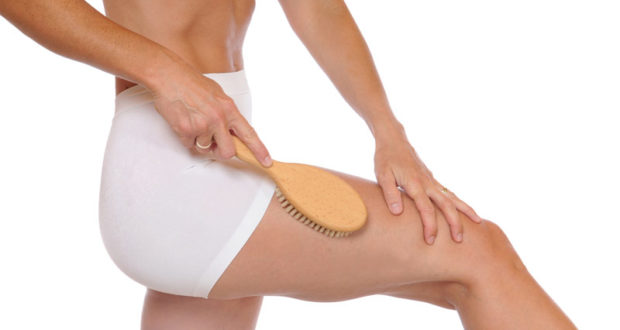 dry skin brushing women