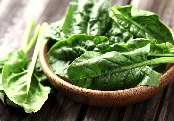 healthy food spinach