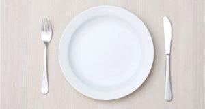 hCG diet empty plate