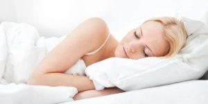 sleep women left side