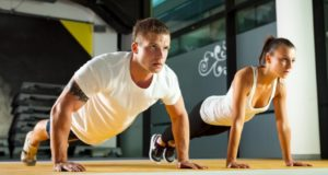 push-ups men and women