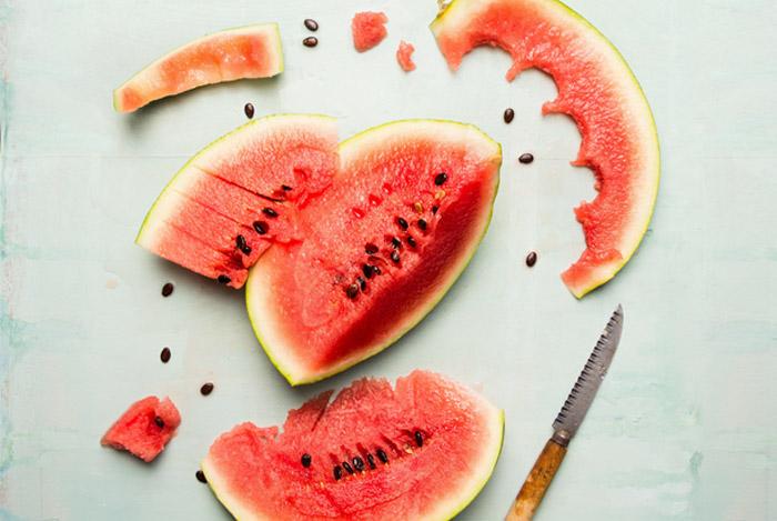 eaten watermelon