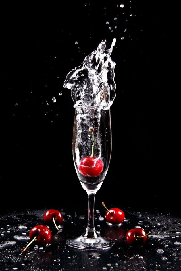glass with cherry