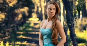 russian model nature
