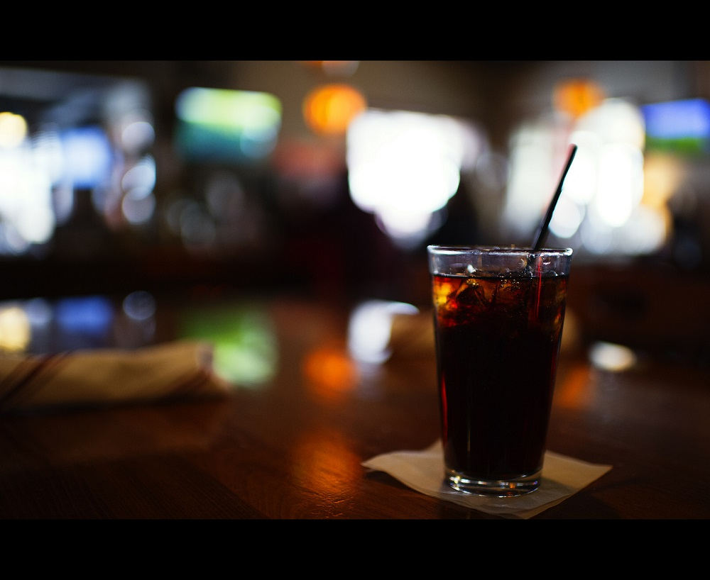coke on table