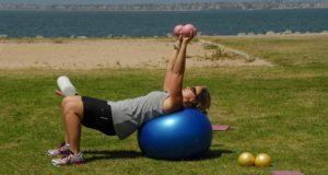 exercising pilates