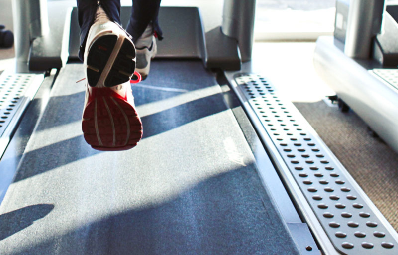 Running on a treadmill for weight loss