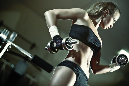 women exercising in the gym