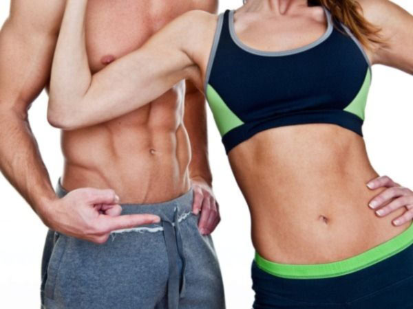 men women tight stomach abs