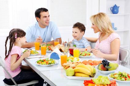 family eat