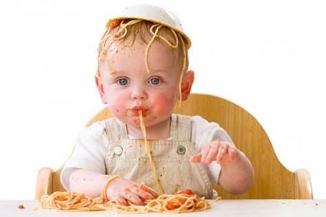 infants eating