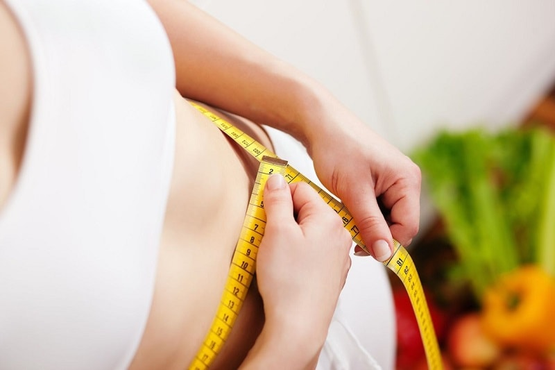flat stomach women