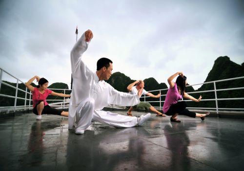 tai-chi exercise